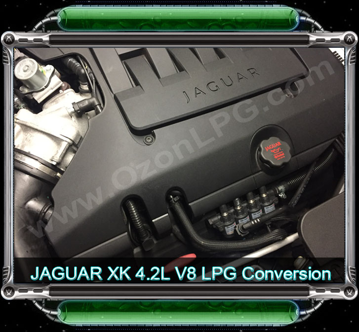 LPG Conversion JAGUAR XK8 4.2L V8 year 2008 by www.OzonLPG.com