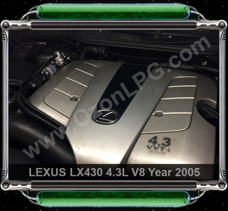 LPG Conversion LEXUS LS430 4.3L V8 year 2005 by OzonLPG