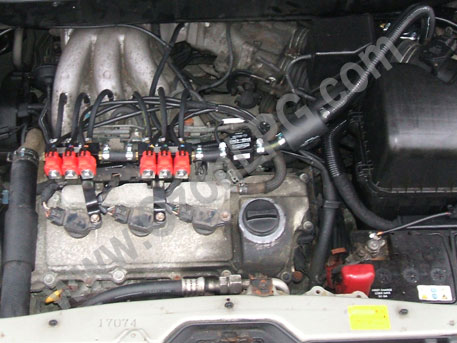 LPG Conversion LEXUS RX300 3.0L V6 year 2001 with Multipoint Gas Injection System