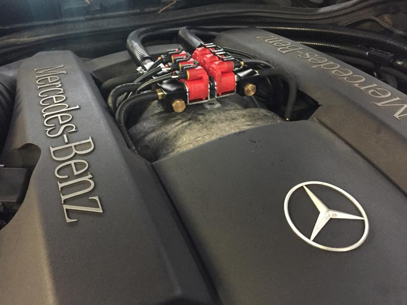 LPG Conversion Mercedes-Benz E240 2.4L V6 year 2001 with Multipoint Gas Injection System