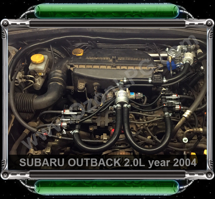 LPG Conversion SUBARU OUTBACK 2.0L flat4 year 2004 by OzonLPG