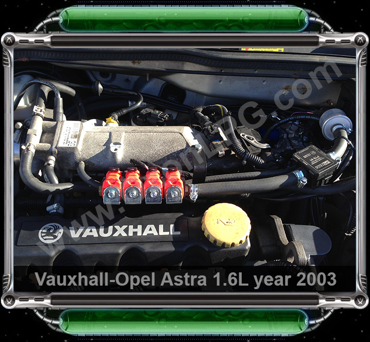 LPG Conversion Vauxhall Astra 1.6Lyear 2003 by OzonLPG