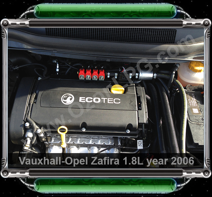 LPG Conversion Vauxhall Zafira 1.8L year 2006 by OzonLPG